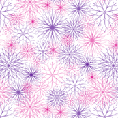 Snowflakes Pink-Purple