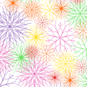 Snowflakes Rainbow colors