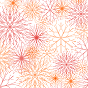 Snowflakes Red-Orange