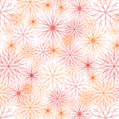 Snowflakes Red-Orange