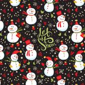 Festive - Snowmen Dark