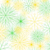 Snowflakes Yellow-Green