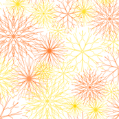 Snowflakes Yellow-Orange