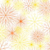 Snowflakes Yellow-Orange