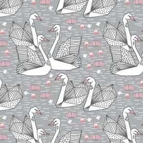 swan // origami swans andrea lauren fabric cute swan design japanese inspired textiles fabrics andrea lauren fabric