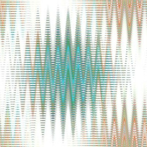 Atomospheric Zig Zag in Teal and Orange