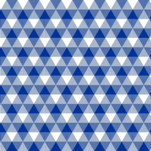 English blue triangle gingham