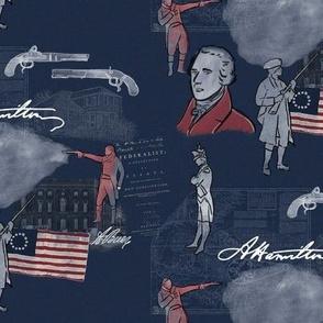 Alexander Hamilton on Blue