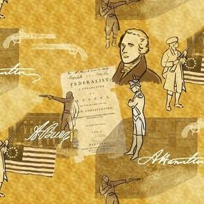 Alexander Hamilton Bio on Gold