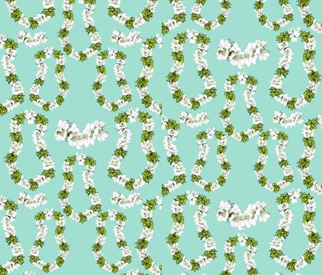 Mint green Tropical Leis by Salzanos fabric by salzanos on Spoonflower - custom fabric