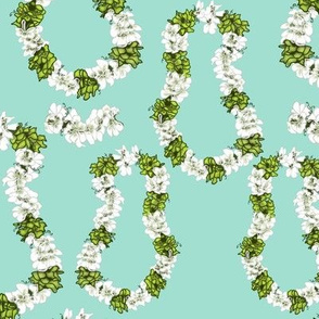 Mint green Tropical Leis by Salzanos