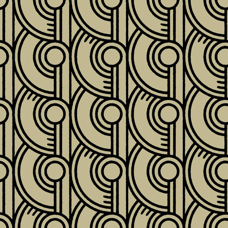 Guilloche Déco 2b fabric by muhlenkott on Spoonflower - custom fabric