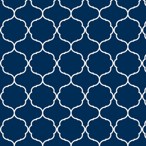 Hexafoil Navy Blue and White