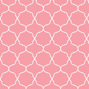 Hexafoil Pink and White-ch