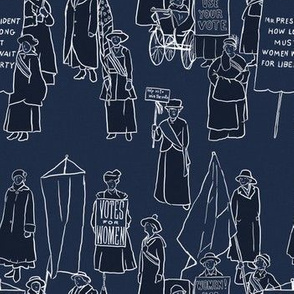 Suffrage on Dark Blue