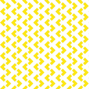 Chevron nested two frequency white -yellow
