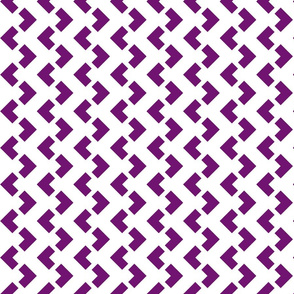 Chevron nested two frequency white -purple