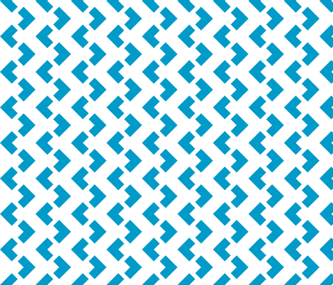 Chevron nested two frequency white -teal fabric by arm_pillozzz on Spoonflower - custom fabric