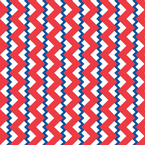 Chevron nested two frequency red-white-blue