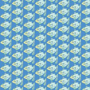 Happy Fish on blue