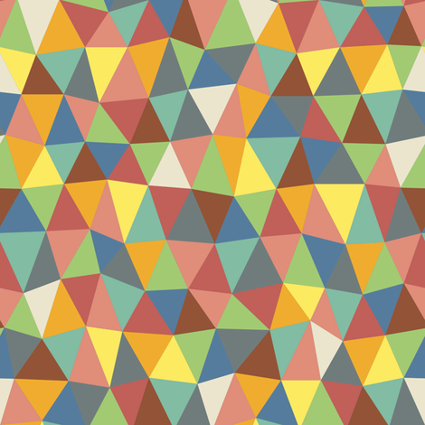 Hippy distorted triangles fabric by greennote on Spoonflower - custom fabric