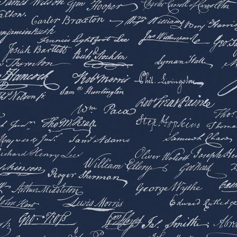 Declaration of independence fabric landpenguin spoonflower rdeclarationofindependenceondarkblueshoppreview declaration of independence fabric by landpenguin on spoonflower custom fabric publicscrutiny Image collections