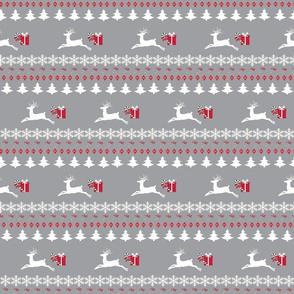 Rain deer-meadow-MEDIUM gray white