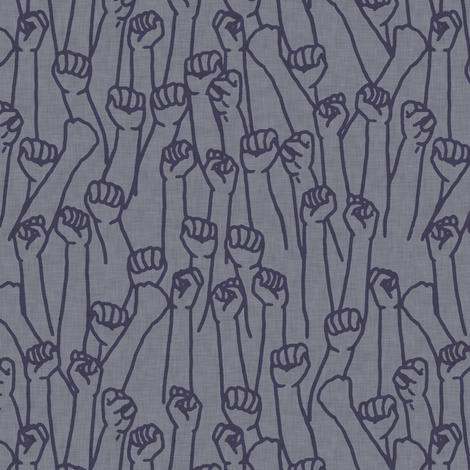 Protest Fists on Light Purple fabric by landpenguin on Spoonflower - custom fabric