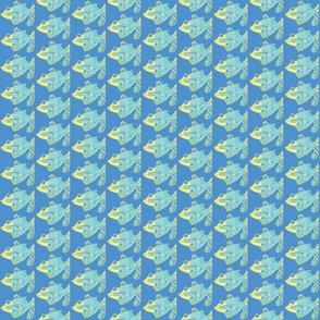 Happy Fish on blue 2-ch
