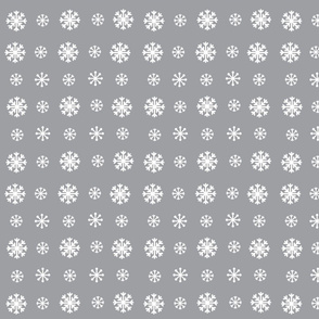 Snowflakes -gray  white