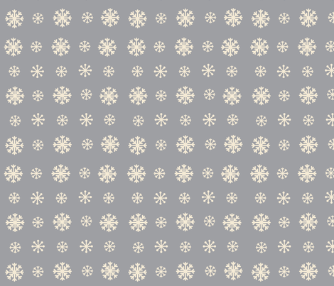Snowflakes -gray  creampuff fabric by drapestudio on Spoonflower - custom fabric