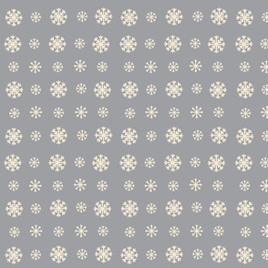 Snowflakes -gray  creampuff