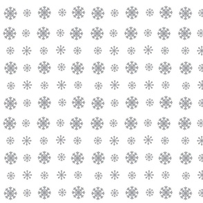 Snowflakes -white  gray snow