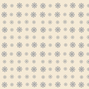 Snowflakes -cream  gray snow