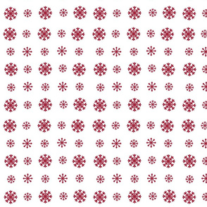 Snowflakes -white  cranberry snow