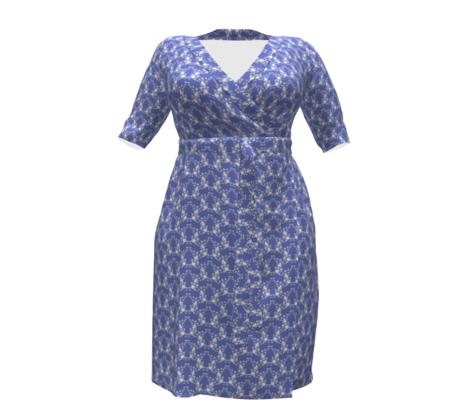 Colette's Blue Floral Lattice