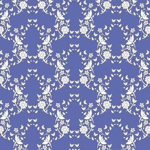 Blue Floral Lattice