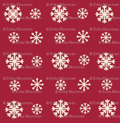 Snowflakes -cranberry cream snow