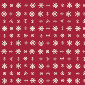 Snowflakes -cranberry cream snow