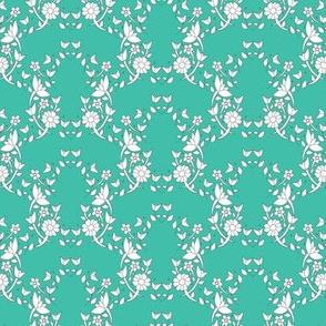 Aqua Floral Ivy