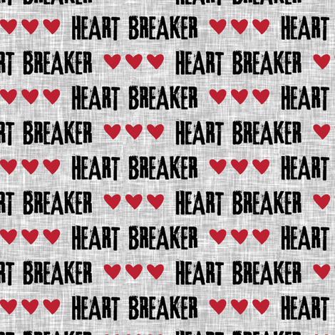 heart breaker  fabric by littlearrowdesign on Spoonflower - custom fabric