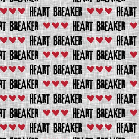 heart breaker  fabric by littlearrowdesign on Spoonflower - custom fabric