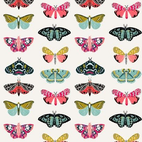moths // butterflies fabric moth design nature botanical fabric print