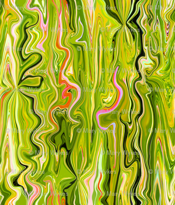 BFM3 - Lime Butterfly Marble