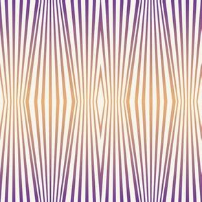 Zebra diamond op art stripes, orange to mauve on off-white by Su_G