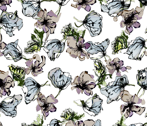 Floral-3 fabric by my_muse on Spoonflower - custom fabric