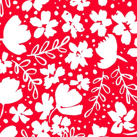 R248_love_blossoms_floral_pattern_big_white_on_red_shop_preview