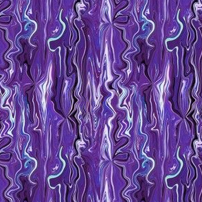 BFM29 - Purple and Blue Butterfly Marble