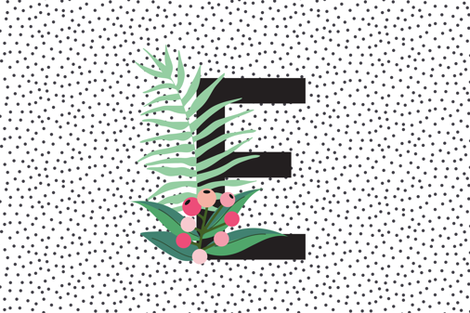 Garden Letters - Letter E fabric by erin__kendal on Spoonflower - custom fabric