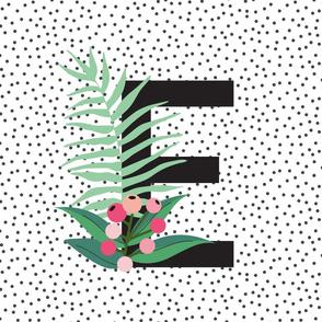 Garden Letters - Letter E